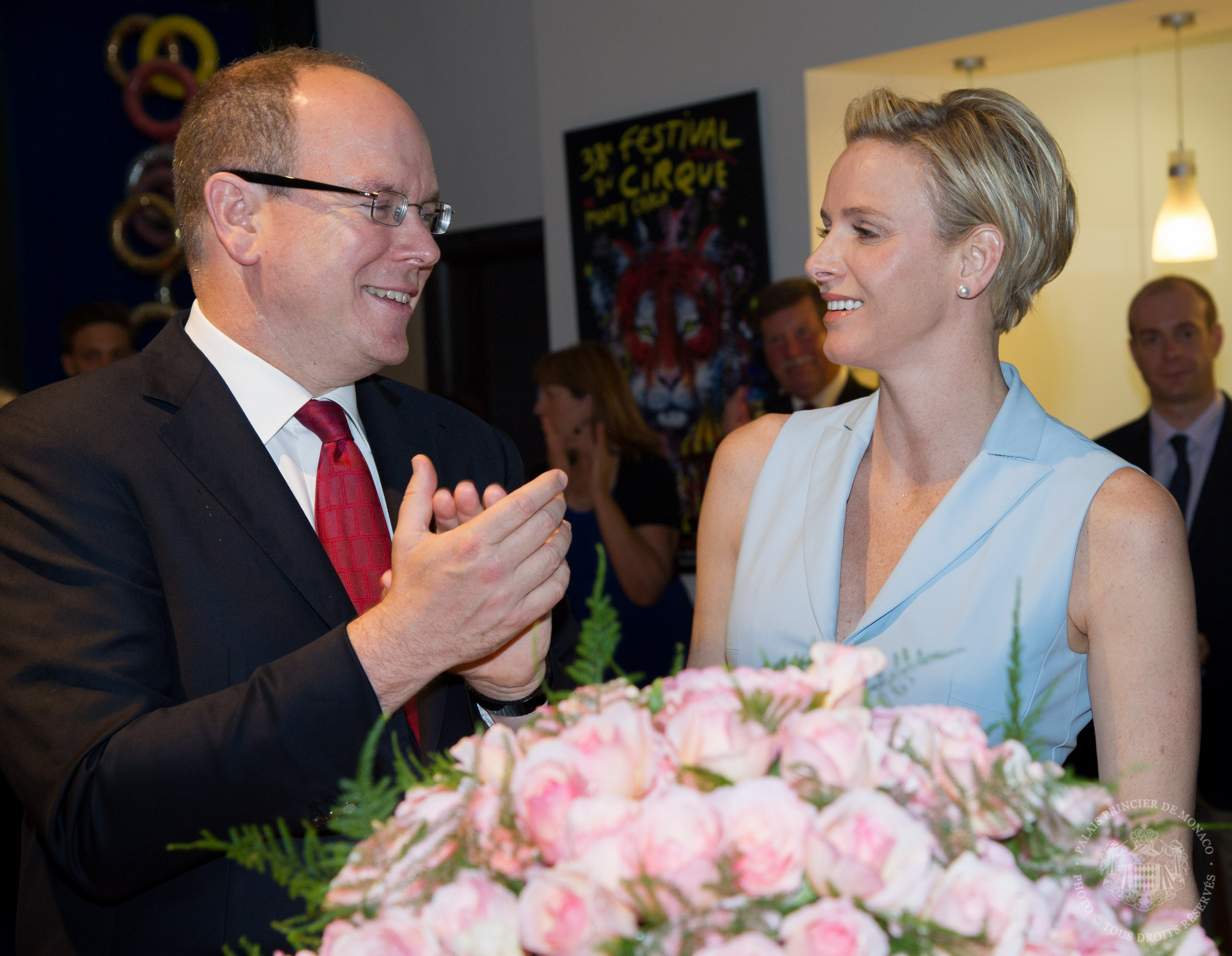 Princesse Charlene during the inauguration of her rose in june 2014 | Meilland Jardin & Parfum Rose 'Princesse Charlene de Monaco' is available at www.parfumflowercompany.com | David Austin Wedding Roses, Meilland Jardin & Parfum Roses and other Luxury (scented) roses